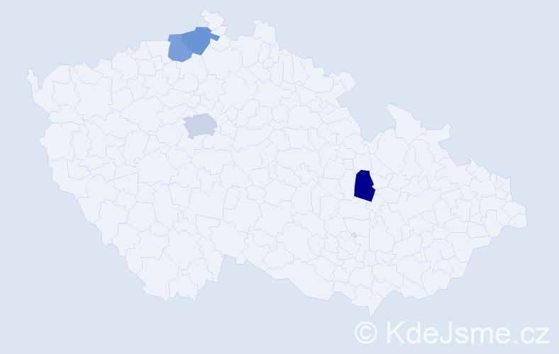 Příjmení: 'Fuentes', počet výskytů 5 v celé ČR