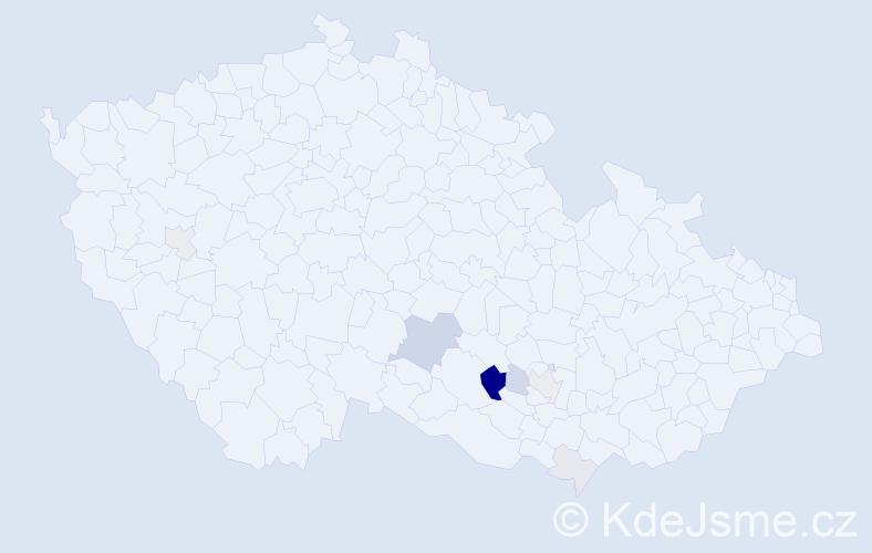 Příjmení: 'Čumplík', počet výskytů 18 v celé ČR