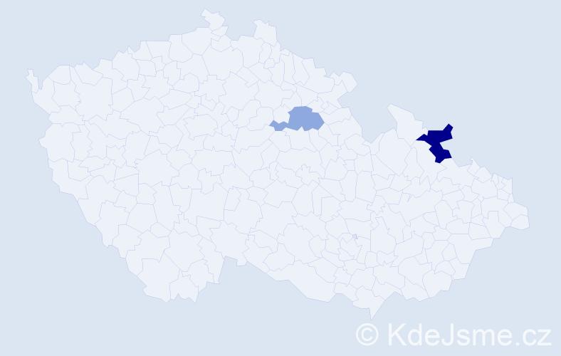 Příjmení: 'Harmančinová', počet výskytů 3 v celé ČR