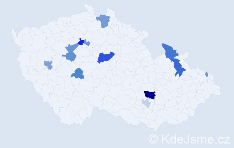 Příjmení: 'Baráthová', počet výskytů 31 v celé ČR