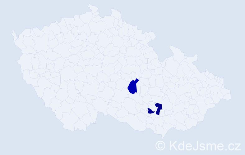 Příjmení: 'Ifrah', počet výskytů 5 v celé ČR