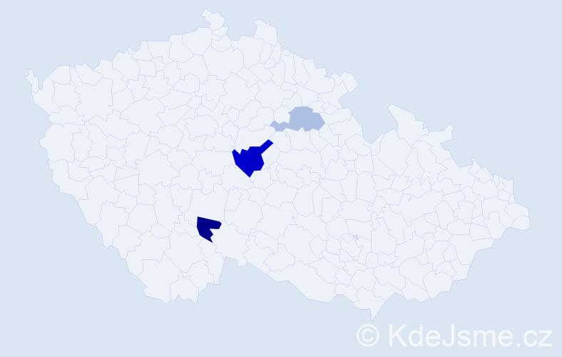 Příjmení: 'Eberhartová', počet výskytů 12 v celé ČR