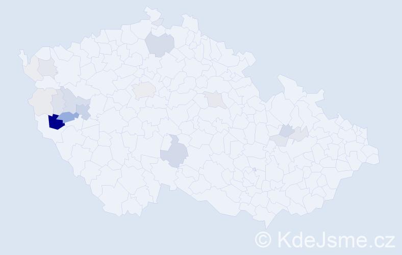 Příjmení: 'Leitlová', počet výskytů 82 v celé ČR