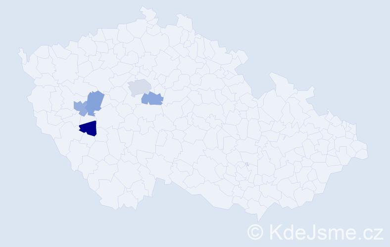 Příjmení: 'Gregoriadesová', počet výskytů 8 v celé ČR