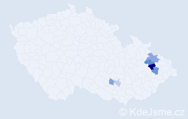 Příjmení: 'Denker', počet výskytů 15 v celé ČR