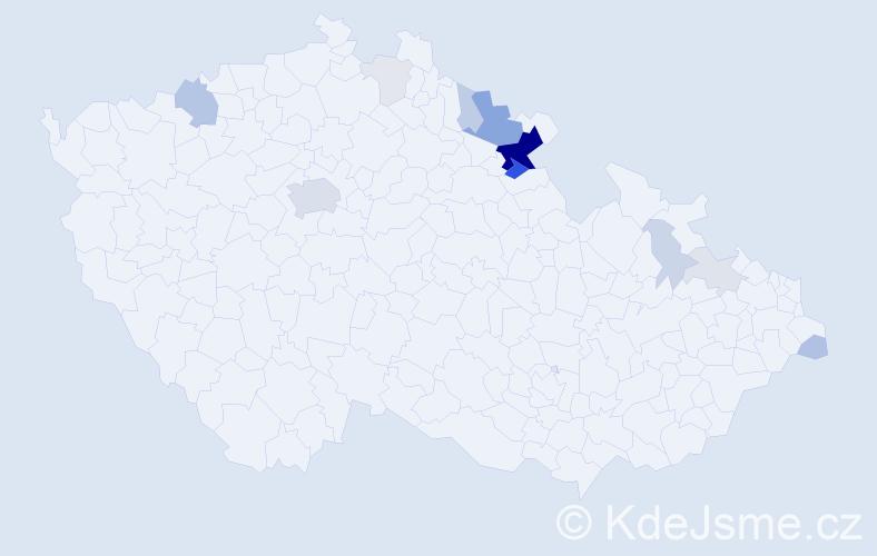 Příjmení: 'Hejnyš', počet výskytů 48 v celé ČR
