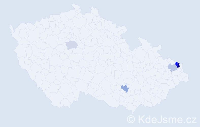 Příjmení: 'Brzezny', počet výskytů 8 v celé ČR