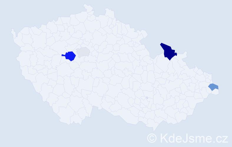 Příjmení: 'Cisková', počet výskytů 6 v celé ČR