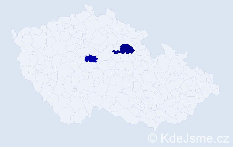Příjmení: 'Kurtevová', počet výskytů 3 v celé ČR