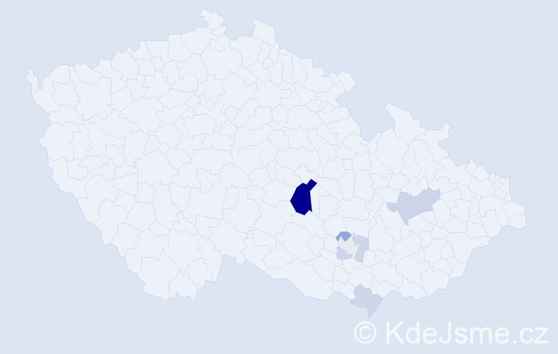 Příjmení: 'Inwaldová', počet výskytů 16 v celé ČR