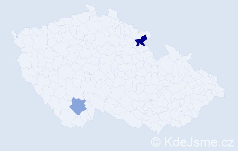 Příjmení: 'Kohnheiser', počet výskytů 7 v celé ČR