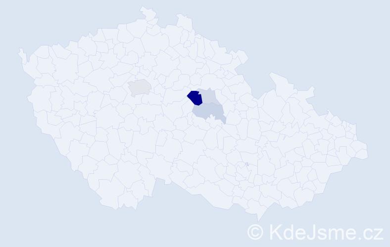 Příjmení: 'Ais', počet výskytů 9 v celé ČR