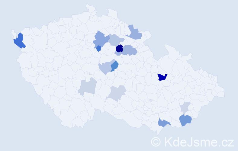 Příjmení: 'Apoštolová', počet výskytů 34 v celé ČR