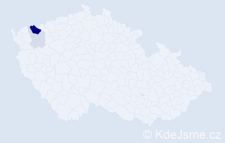 Příjmení: 'Gottschierová', počet výskytů 8 v celé ČR