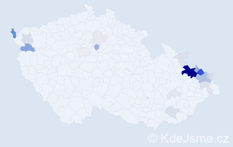 Příjmení: 'Graca', počet výskytů 107 v celé ČR