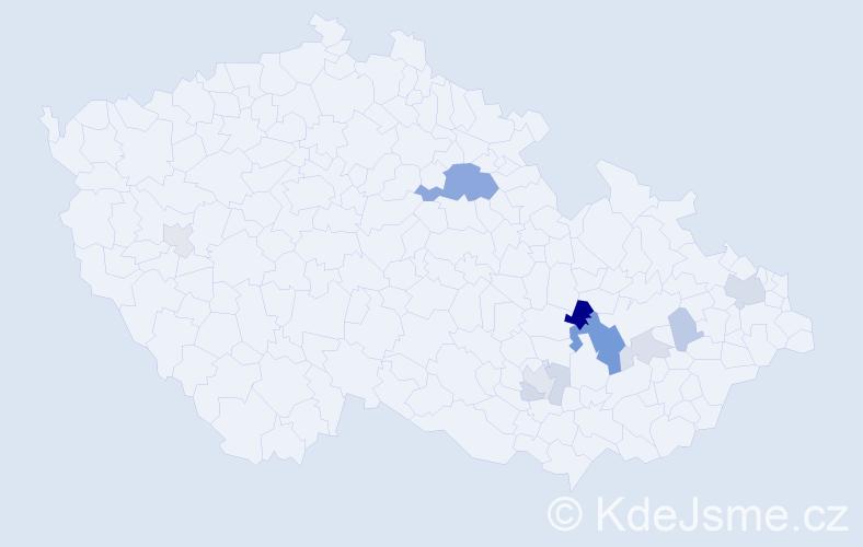 Příjmení: 'Čépe', počet výskytů 25 v celé ČR