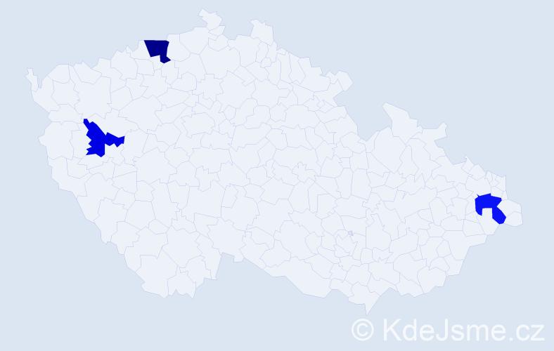 Příjmení: 'Gaudynová', počet výskytů 9 v celé ČR
