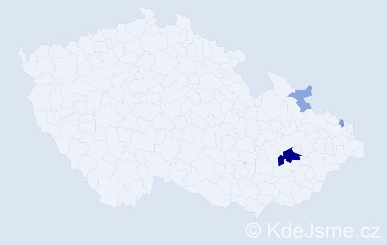 Příjmení: 'Figur', počet výskytů 10 v celé ČR