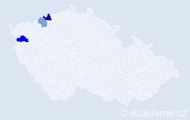 Příjmení: 'Banárová', počet výskytů 4 v celé ČR