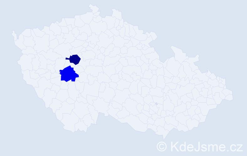 Příjmení: 'Jalčovík', počet výskytů 2 v celé ČR