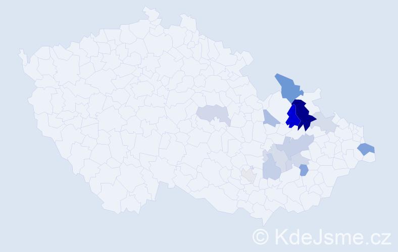 Příjmení: 'Čudovská', počet výskytů 27 v celé ČR