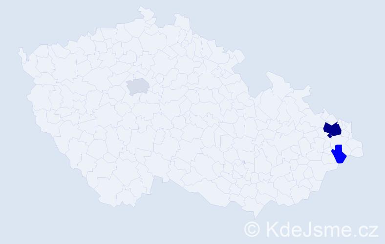 Příjmení: 'Lembas', počet výskytů 14 v celé ČR
