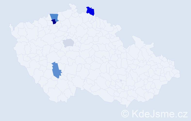 Příjmení: 'Guidová', počet výskytů 7 v celé ČR