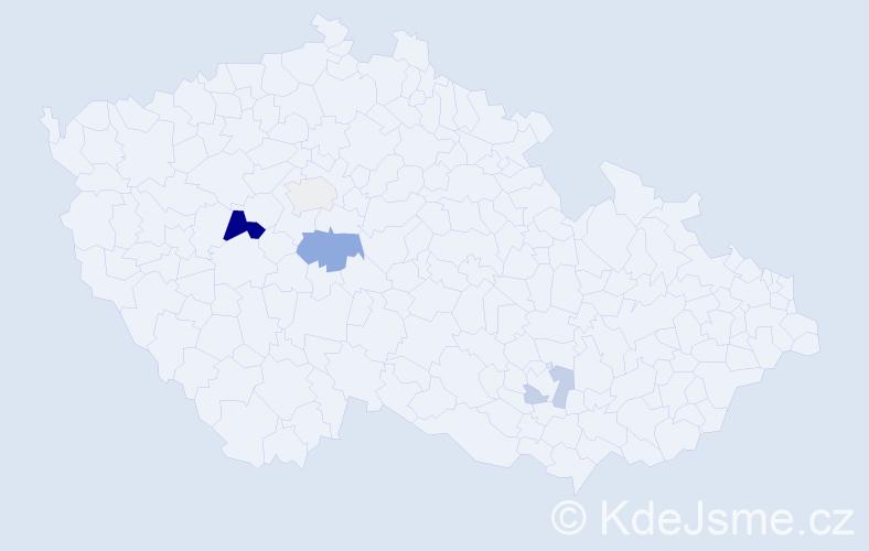 Příjmení: 'Fopová', počet výskytů 9 v celé ČR