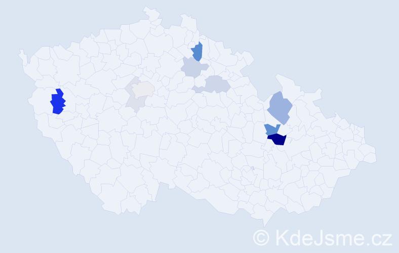 Příjmení: 'Eibová', počet výskytů 23 v celé ČR