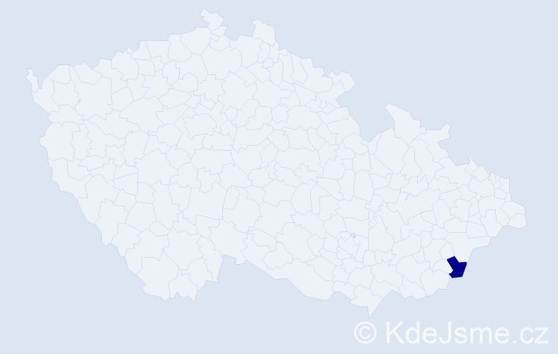 Příjmení: 'Božének', počet výskytů 1 v celé ČR