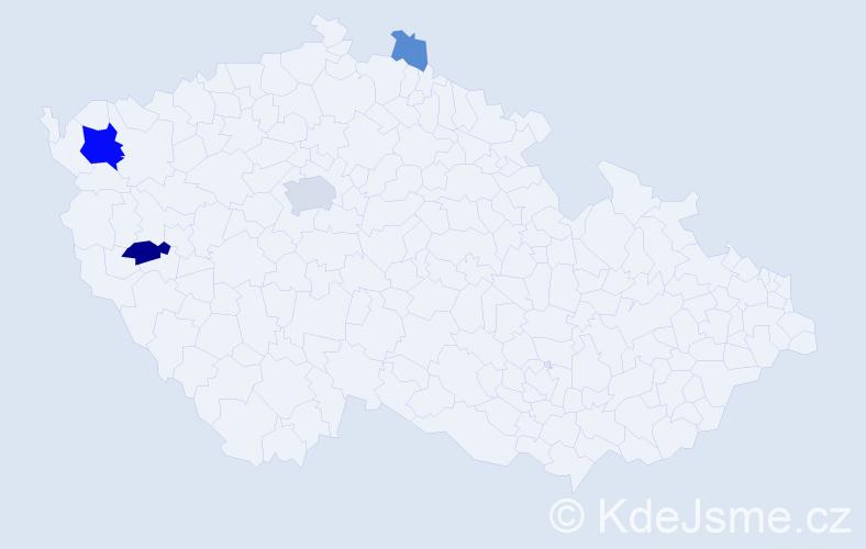 Příjmení: 'Kurčina', počet výskytů 11 v celé ČR