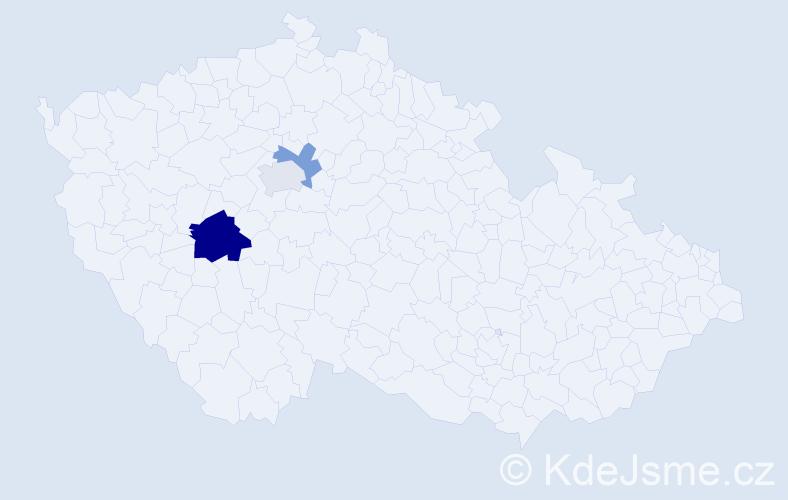 Příjmení: 'Gosza', počet výskytů 5 v celé ČR