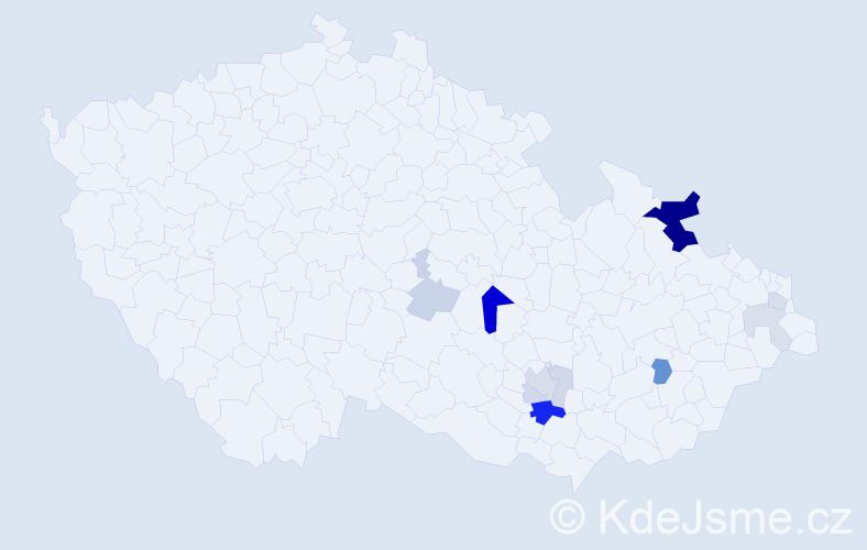 Příjmení: 'Citnarová', počet výskytů 28 v celé ČR