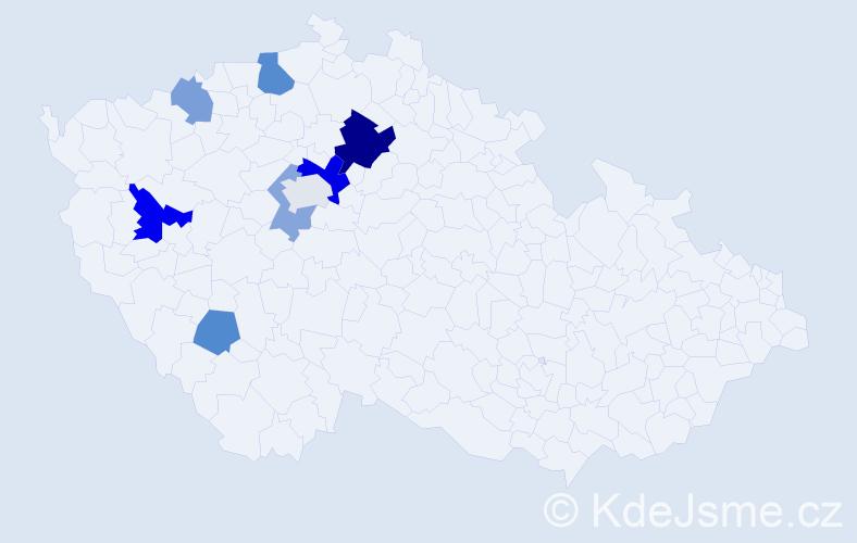Příjmení: 'Gorin', počet výskytů 15 v celé ČR