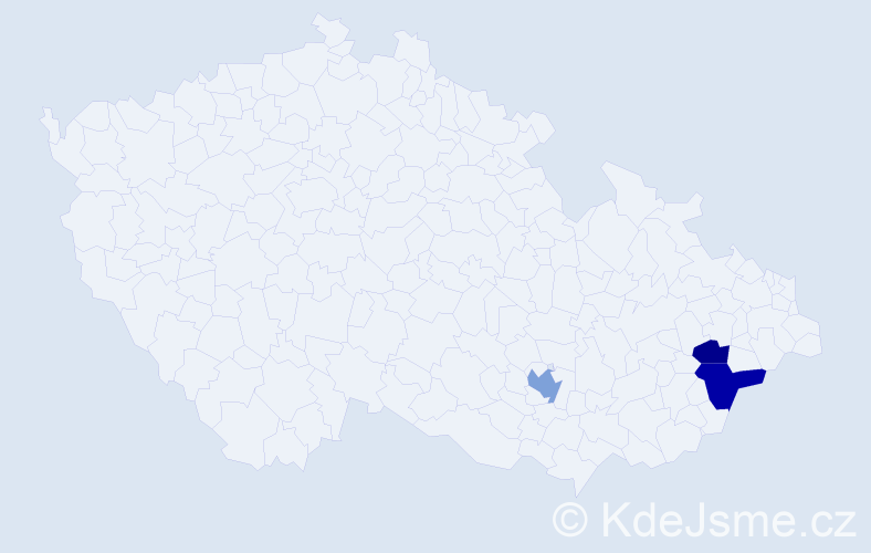 Příjmení: 'Leckéši', počet výskytů 8 v celé ČR