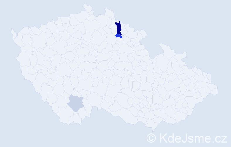 Příjmení: 'Hollman', počet výskytů 9 v celé ČR
