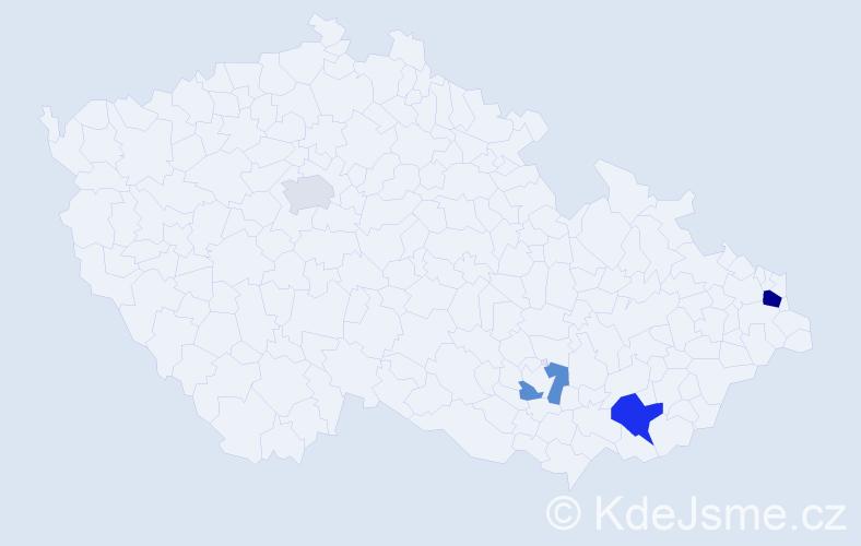 Příjmení: 'Giovannini', počet výskytů 7 v celé ČR