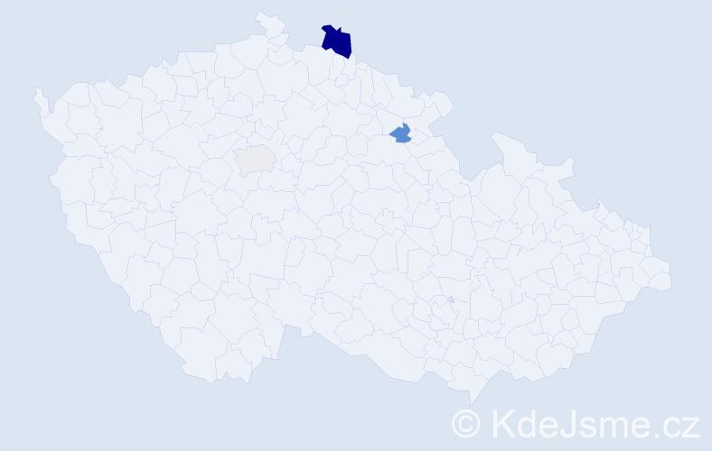 Příjmení: 'Jalovičár', počet výskytů 15 v celé ČR