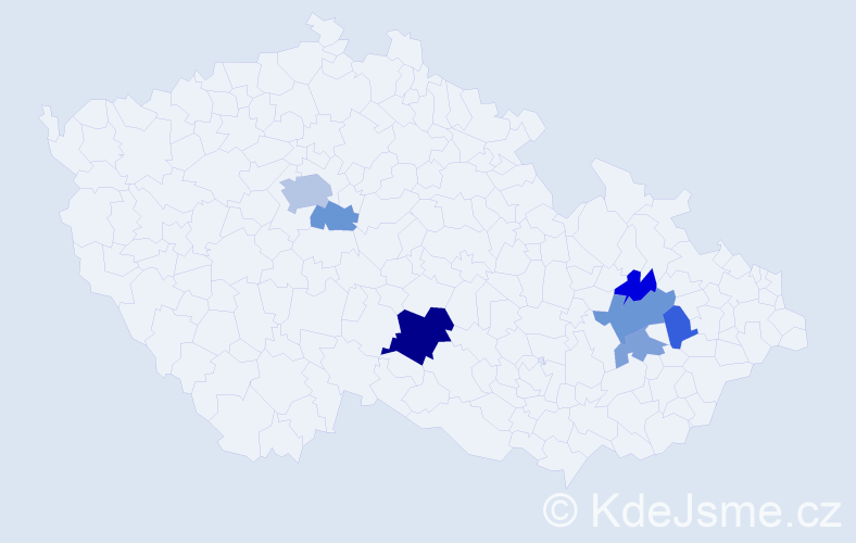 Příjmení: 'Ludmila', počet výskytů 14 v celé ČR
