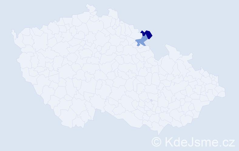 Příjmení: 'Makila', počet výskytů 2 v celé ČR