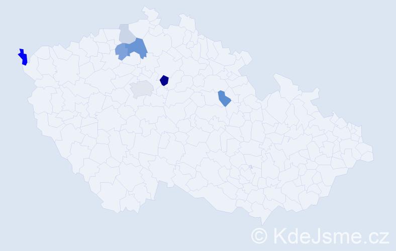 Příjmení: 'Lembak', počet výskytů 14 v celé ČR