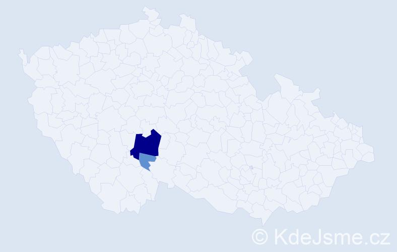 Příjmení: 'Čikeš', počet výskytů 9 v celé ČR