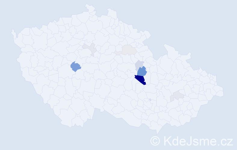 Příjmení: 'Honzálek', počet výskytů 22 v celé ČR