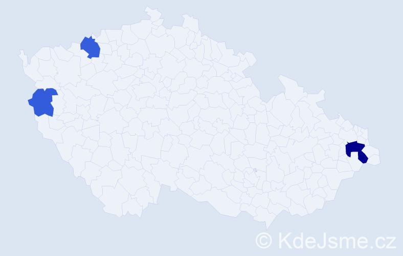 Příjmení: 'Kačandyová', počet výskytů 7 v celé ČR