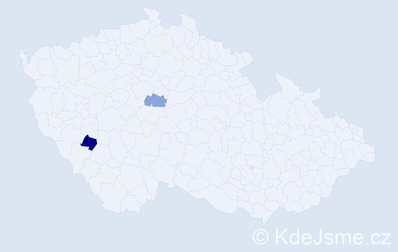 Příjmení: 'Gebrlínová', počet výskytů 2 v celé ČR