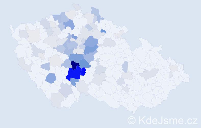 Příjmení: 'Krch', počet výskytů 282 v celé ČR