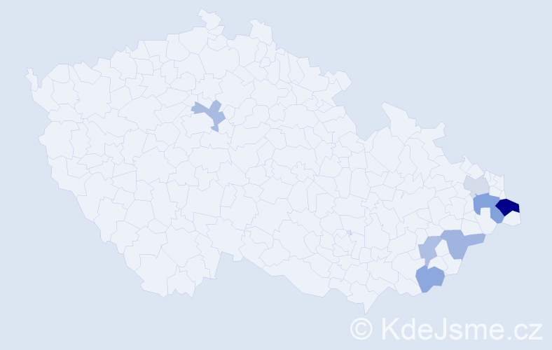 Příjmení: 'Bogdanovičová', počet výskytů 12 v celé ČR