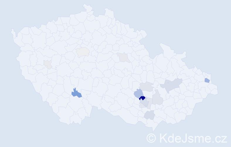 Příjmení: 'Cebák', počet výskytů 40 v celé ČR
