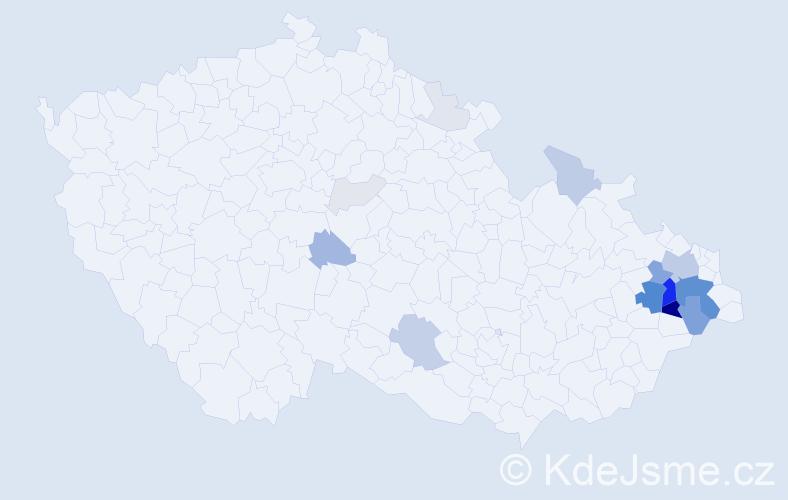 Příjmení: 'Ermis', počet výskytů 76 v celé ČR