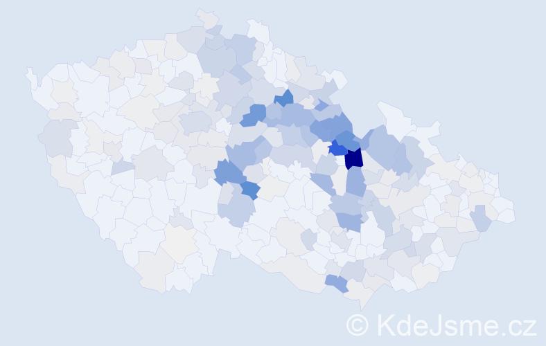 Příjmení: 'Langr', počet výskytů 883 v celé ČR